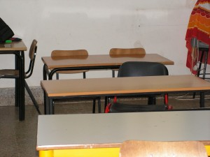 the desks