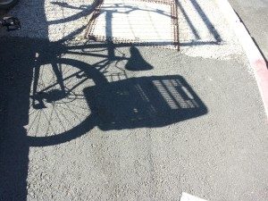 More afternoon shadows outside the venue, ETAI 2014