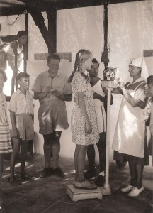 Tel-Aviv, 1947. Summer camp for city children to help them GAIN weight. Photographer unknown.