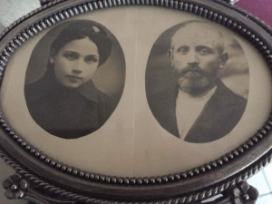 Dora and her father, Nochim Meir. The only two that remained at home ...